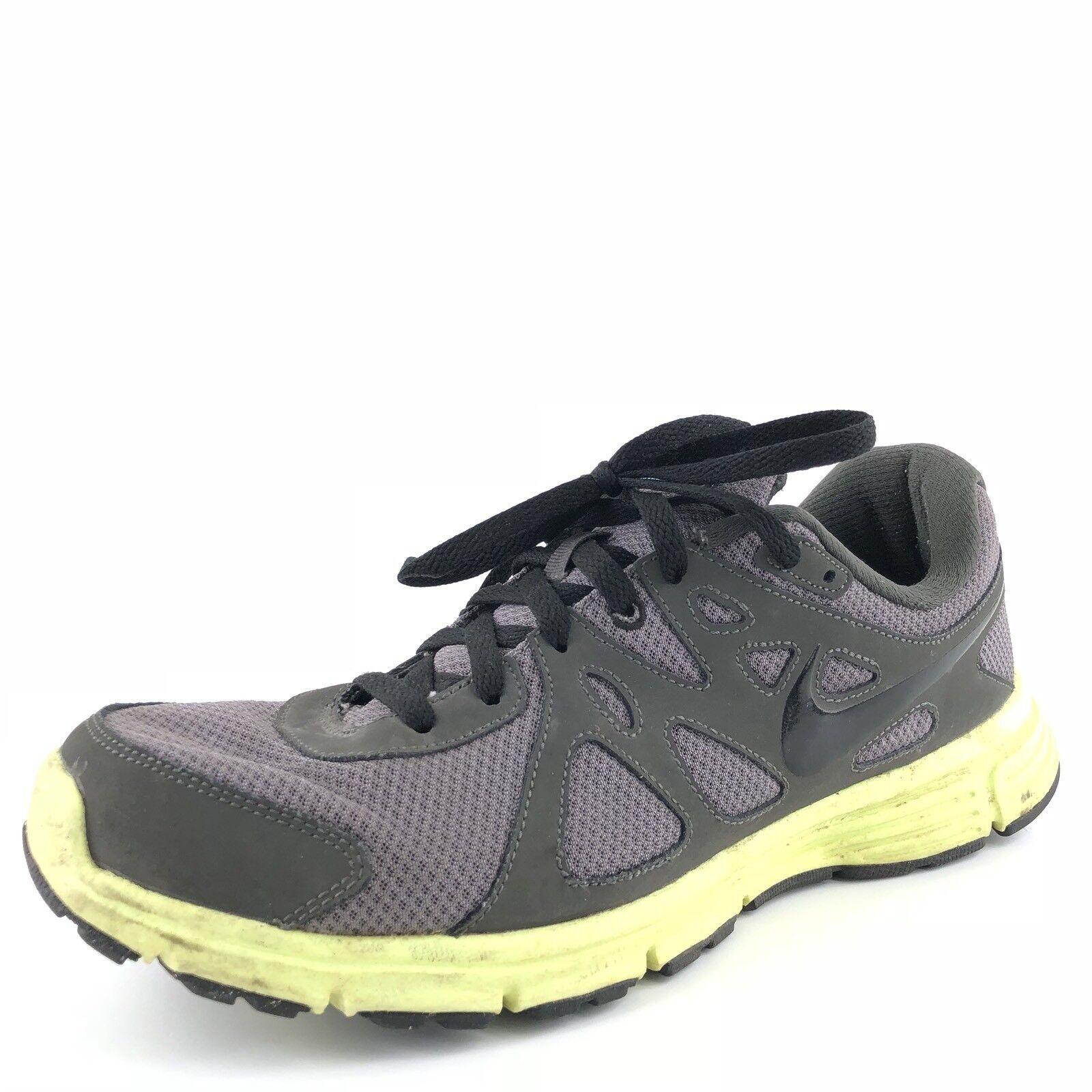 Nike revolution 2 gy neon athletic laufschuhe männer größe 11,5 m