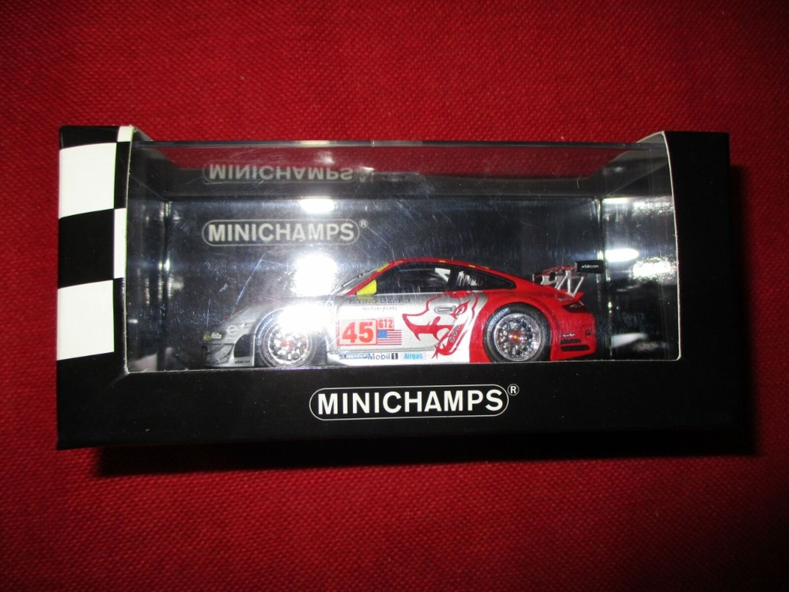 MINICHAMPS ® 400 087845 1 43 Porsche 911 gt3 rsr 12 H Sebring 2008 NOUVEAU neuf dans sa boîte