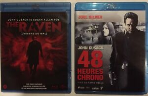 LOT-2-BLU-RAY-THE-RAVEN-L-OMBRE-DU-MAL-48-HEURES-CHRONO-JOHN-CUSACK