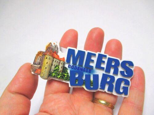 Bodensee Meersburg Magnet  Buchstaben Poly 9,5 cm Germany Souvenir 391