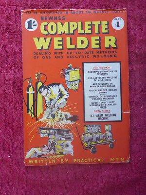 Metalworking Manuals, Books & Plans Vintage Newnes Complete Welder Magazine Part 4