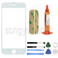 "White Front Screen Glass Replacement +UV LOCA Glue+ Free tools for 4.7"" iPhone 6"
