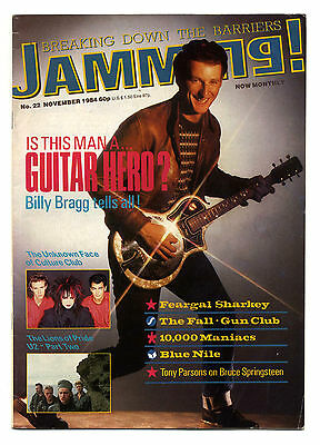 JAMMING Magazine No 22 Nov 1984 U2 The Fall Gun Club Billy Bragg Culture Club