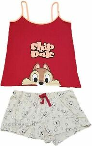 CHIP AND DALE PJ SET PRIMARK DISNEY Womens Ladies UK Sizes 6-14