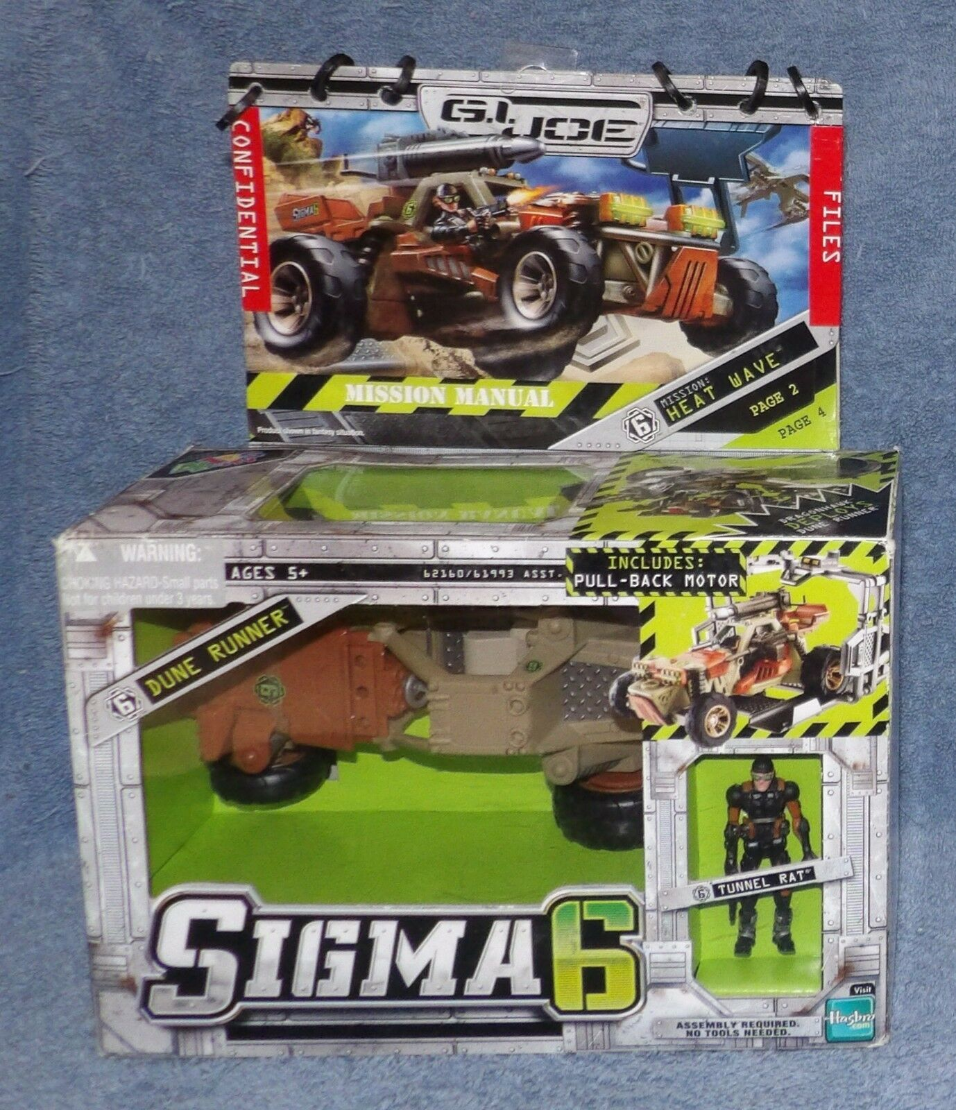 GI JOE SIGMA 6 MISSION: HEAT WAVE SET WITH DUNE RUNNER & TUNNEL RAT 2006