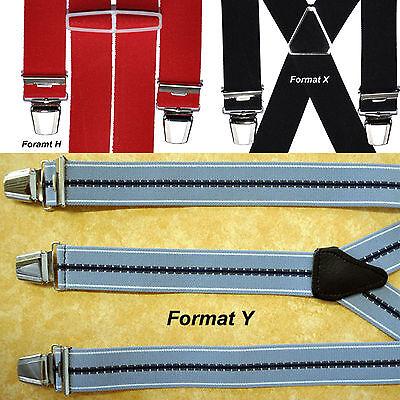 Ordinato Larga 3,5cm A Partire Da 11,90 Euro H, X O Y Forma 10 Colori Bretelle Clip 4-mostra Il Titolo Originale Garanzia Al 100%