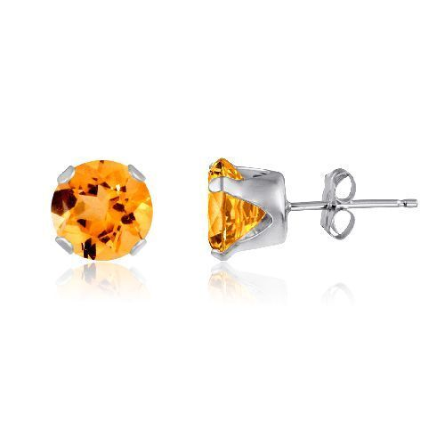 Sterling Silver Elegant Round CZ 7mm 4 Prong Stud Earring  Choose Your Color