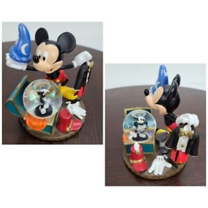 "Disney Mickey Mouse Mini Snow Globe Fantasia Trunk Steamboat Figurine 4.5"""
