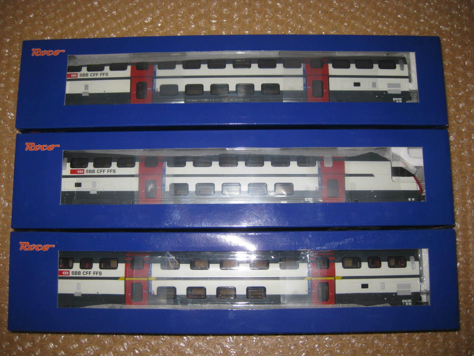 Roco Ho Doppelgagagenzug Delle SBB Nr.64850, 64851,64855 S317