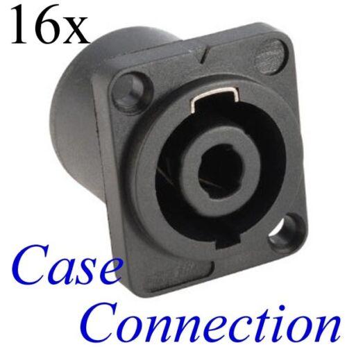 4-pole 16x Speaker Buchse 4polig # Adam Hall # Speakon compatible Chassis