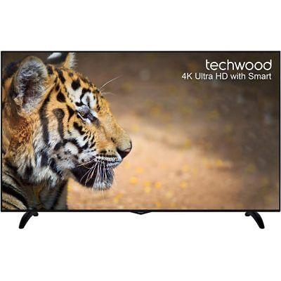 Techwood 65AO6USB 65 Inch Smart LED TV 4K Ultra HD Freeview HD 3 HDMI New