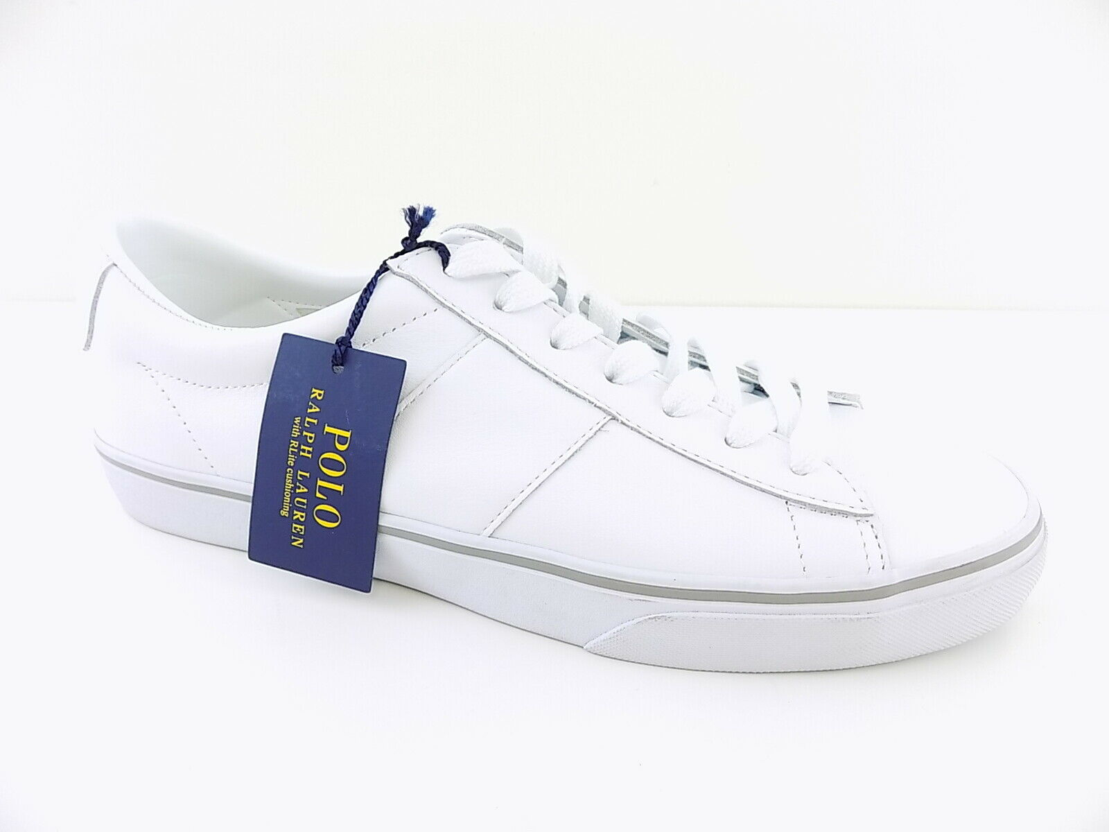 Polo Ralph Lauren   SAYER White MEN'S Size 10.5D Fashion Sneakers  shoes D10