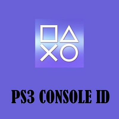 PS3 CID PSID CONSOLE ID Private and Guarantee | eBay