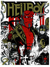 HELLBOY SCREEN PRINT POSTER NC COMIC CON 2012 BY DANNY MILLER