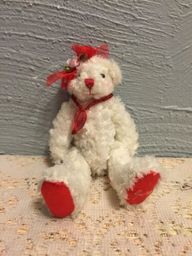 """5/"""" Plush white Love Bear by Delton Products Corp."""