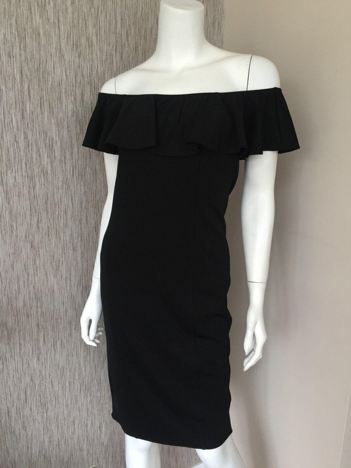 RALPH LAUREN schwarz BARDOT BODYCON DRESS Größe UK 8-10 RETAIL