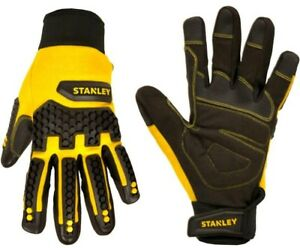 Stanley-Mens-Large-Synthetic-Leather-Impact-Work-Gloves-Outdoor-Construction