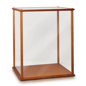 wood and glass display case 2 for collectibles and dolls bradford exchange ebay. Black Bedroom Furniture Sets. Home Design Ideas