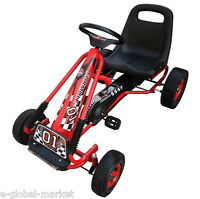 Pedal Go-cart Ride-on Car Kids Chirldren Outdoor Fun Games Adjustable Seat Red