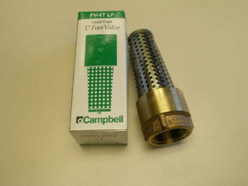 """1/"""" Brass Foot Valve FV-4TLF Campbell Lead Free Bronze /& Stainless for Cold Water"""