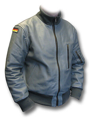 German Luftwaffe KANALJACKE Black Bomber Real Shearling Sheepskin Flight Jacket