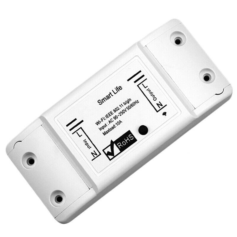 2x(smart WiFi Switch Relay Tuya Smart Life App Works for Google Home Mini a  O2u7