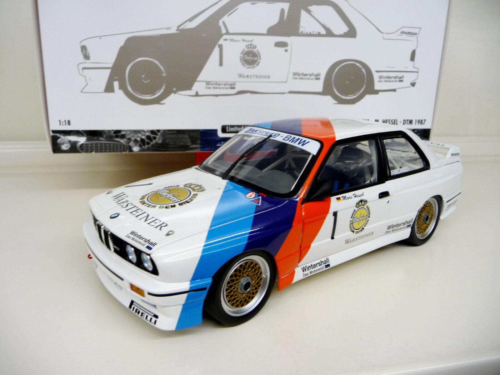 1:18 Minichamps Minichamps Minichamps BMW m3 e30 EVO DTM Zakspeed 1987 Nostalgique étais une #1 NEUF NEW   La Qualité Primacy  0001ca