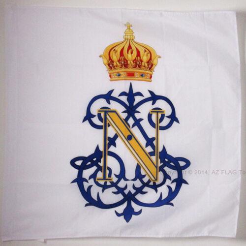 FRANKREICH ZWEITES KAISERREICH FAH FLAGGE KAISERMONOGRAMM NAPOLEON III 90x90cm
