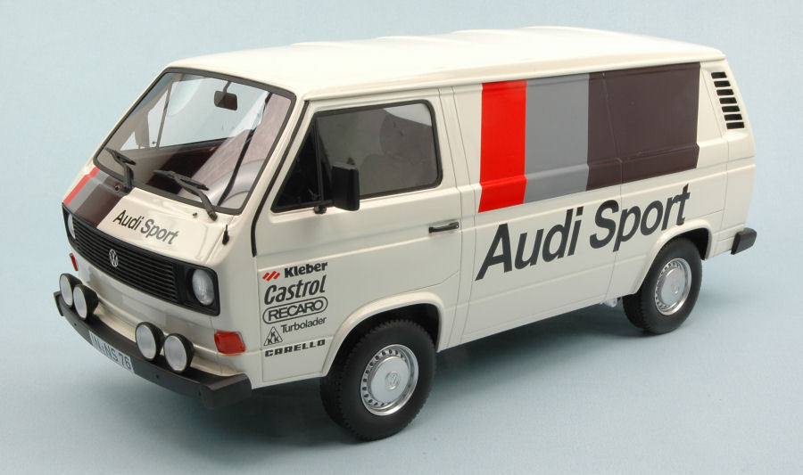 Volkswagen VW T3 Box Model Wagon Audi Sport 1:18 Model Box PREMIUM CLASSIXXS 9e6225
