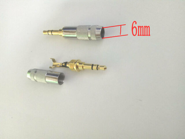 50pcs Gold plated Stereo 3.5mm Repair Headphone Plug Cable Audio connector