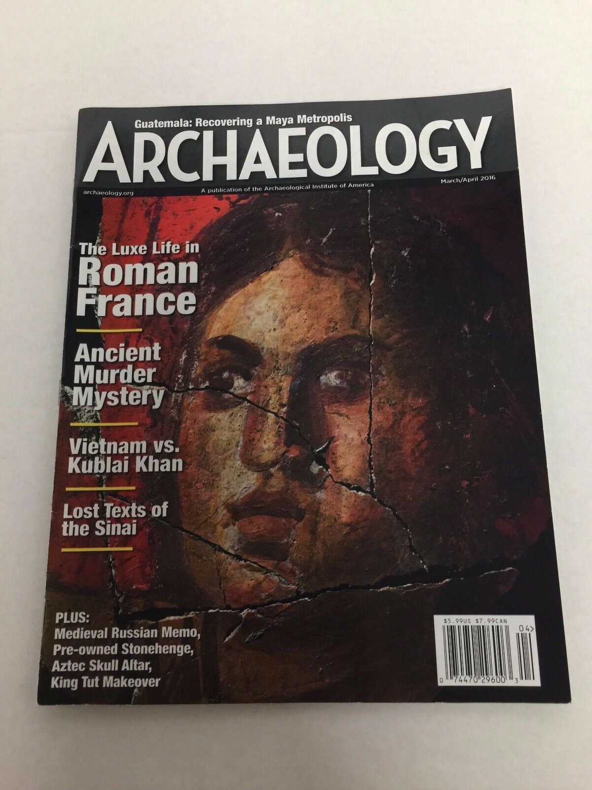 Archaeology Magazine March/April 2016 Issue 74470296003