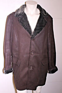 21369977 Zara Man Mens Brown Faux Shearling Faux Suede Driving Jacket Coat Sz ...