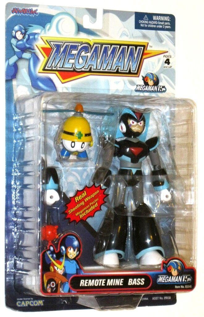 Megaman Remote Mine Bass Figure w Poster Jazwares - RARE NIB
