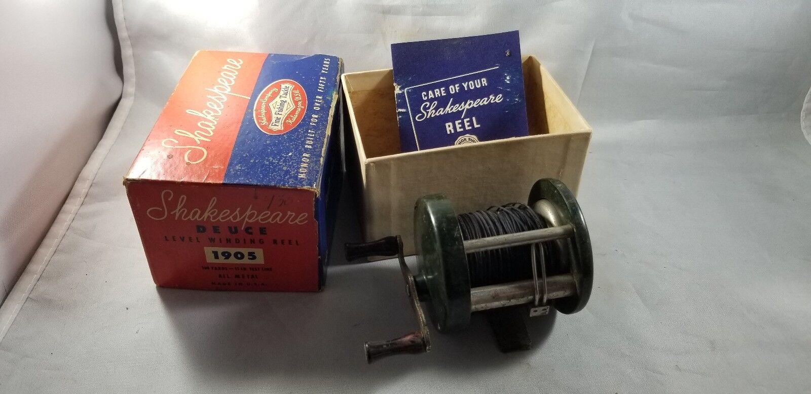 SHAKESPEARE DEUCE 1905 Reel w Box & Papers  Reel Nice