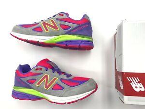 online retailer 3779f 17907 Details about Brand New Toddler Infant New Balance KJ 990 K2I suede Grey  Pink Multi color kids