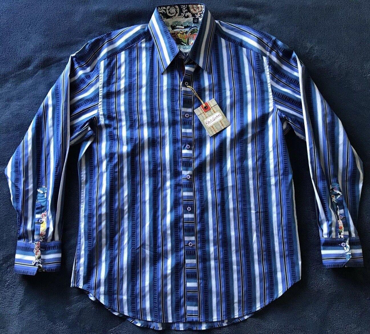 Robert Graham Gerardo Long Sleeve  Herren Shirt Größe Large NWT