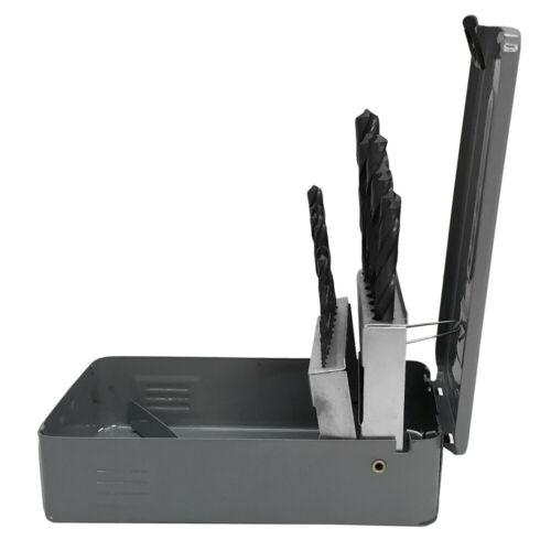 Straight Shank Drill 19 Pc HSS 1-10mm Metric Jobber Drill Set Metal Index