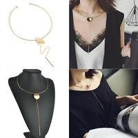 Punk Alloy Metal Chain Torques Collar Chokers Bib Statement Necklace