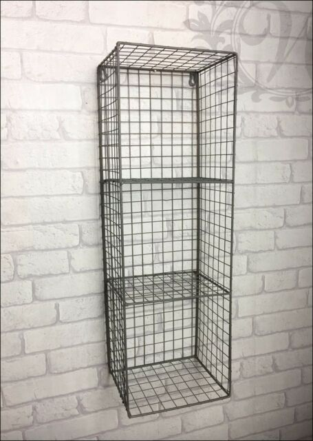 Retro Vintage Industrial Style Metal Shelf Rack Storage Cabinet Cupboard Wire
