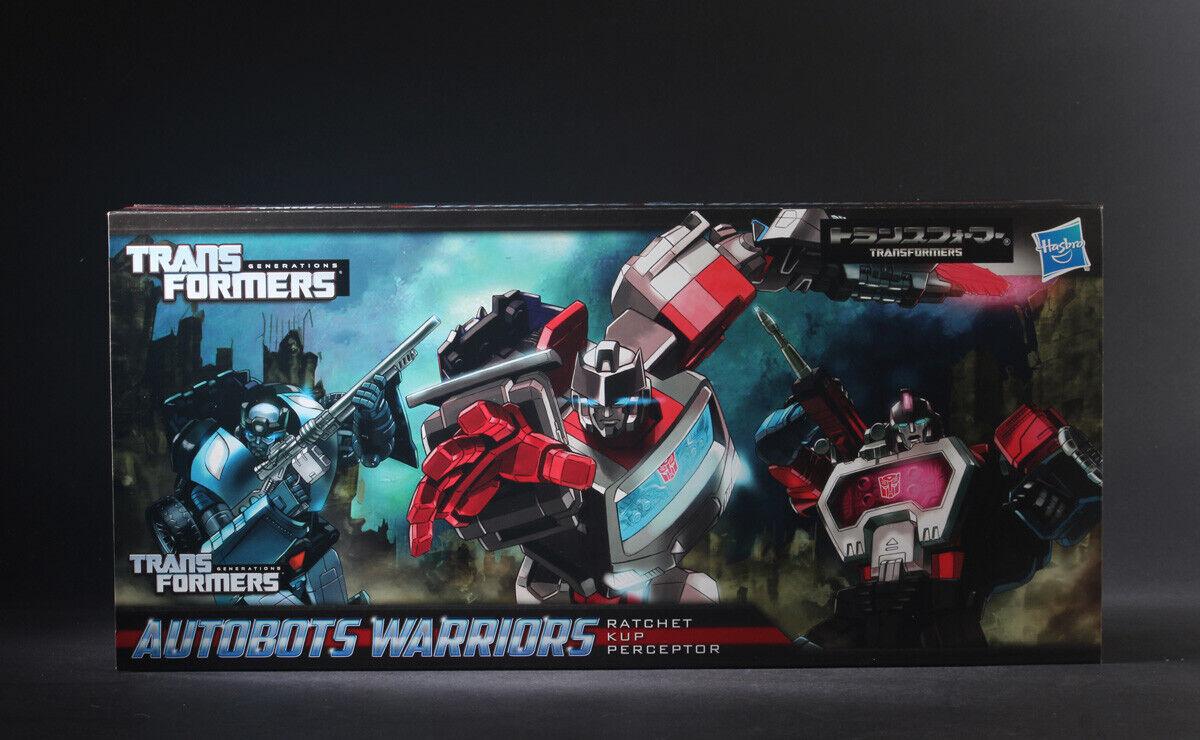 Hasbro Transformers Autobots guerreros Trinquete recupera perceptor Set 3 figuras