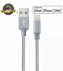 3 Pack 6ft 8Pin USB Cable Heavy Duty For iPhone 6 7 8 Plus Charger Charging Cord
