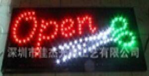 2 Mode Clignotant Rouge Ouvert Avec Blanc Vert Ciseaux Led Nouvelle Fenêtre Magasin Signes-afficher Le Titre D'origine Avoir à La Fois La Qualité De TéNacité Et De Dureté