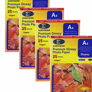 25-Sheets-Pack-Sumvision-A4-Inkjet-Printer-Photo-Premium-Glossy-Paper-135gsm
