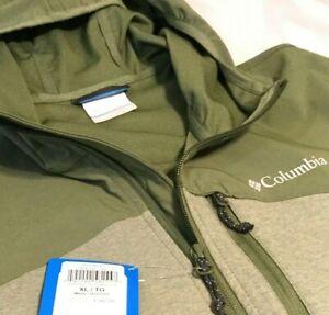 New Men's XL Columbia Softshell Jacket Miller Peak Hooded Trail Hiking Ski Coat