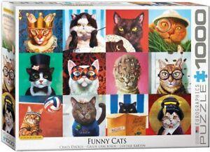 Funny Cats Portraits 1000 piece jigsaw puzzle 480mm x 680mm (pz)