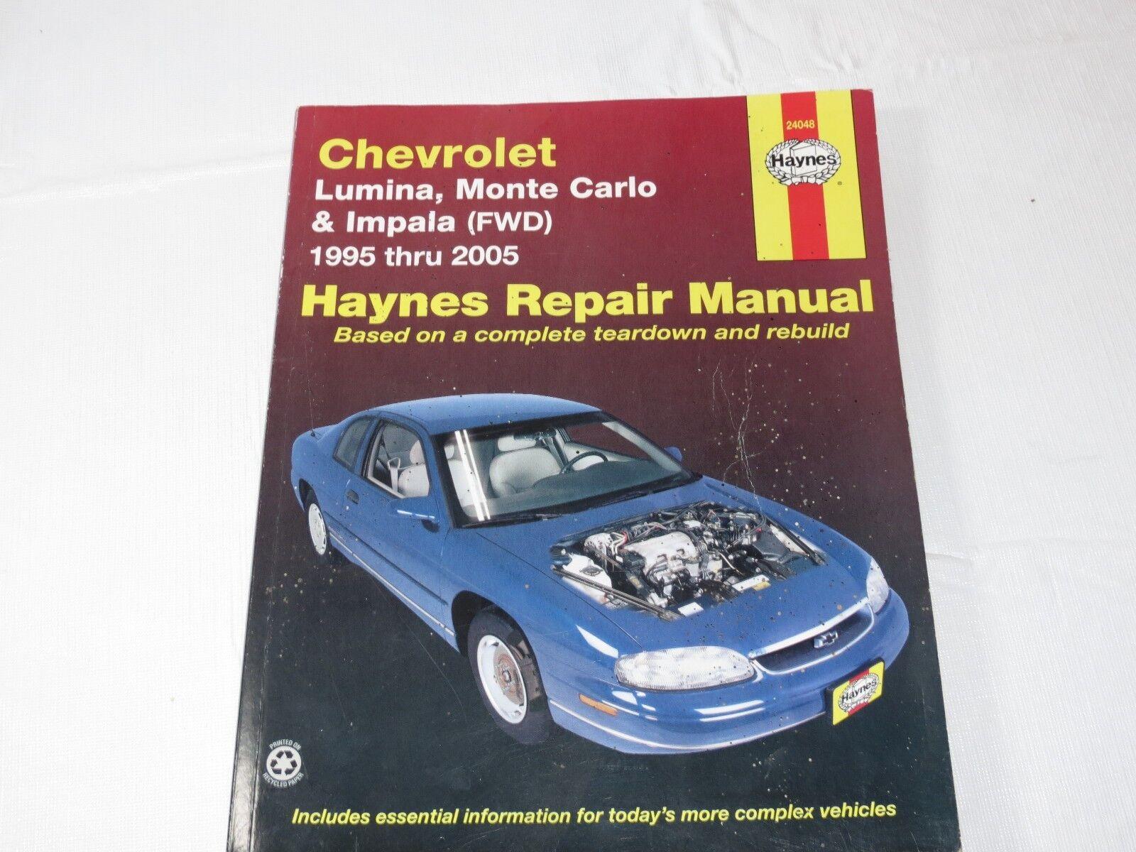 Monte Carlo Impala FWD Repair Manual 1995-2005 Chevy Lumina