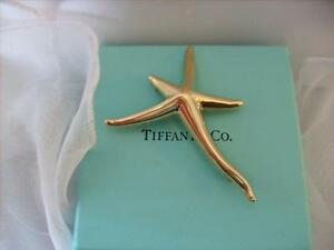 3cc098eac Image is loading Tiffany-amp-Co-18K-Gold-Elsa-Peretti-Starfish-