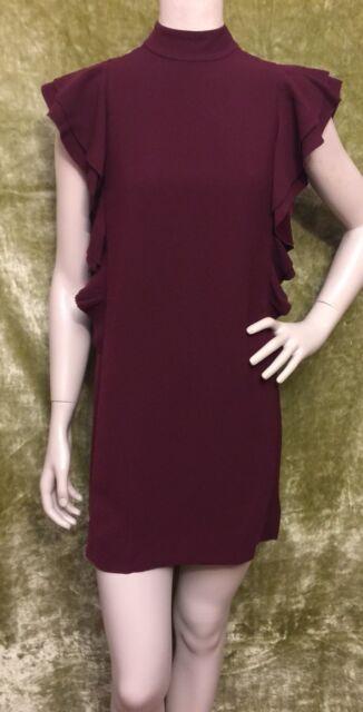96efdd093df Kate Spade Red Burgundy Satin Sleevless Sz 0 or 4 Dress for sale ...
