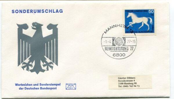 1975 Ersttagsbrief Wertzeichen Sonderrstempel Deutschen Bundespost Space Nasa