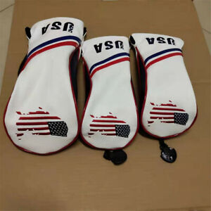 3xGolf-USA-Wood-Club-Cover-Driver-Fairway-Wood-Headcover-For-Taylormade-Ping-PXG